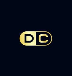 Initial letter dc logo template design vector