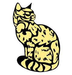 Ink cat vector