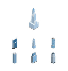 isometric construction set of exterior urban vector image