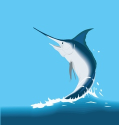 Jumping sailfish marlin fish vector