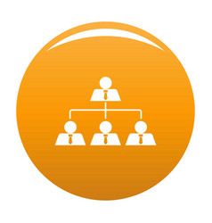 leadership icon orange vector image