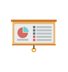 management graph pie icon flat style vector image