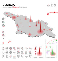 Map georgia epidemic and quarantine emergency vector
