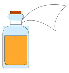 medicine in a bottle on white background vector image
