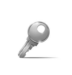 Metal key vector image