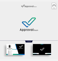 Modern tick outline logo design business icon vector