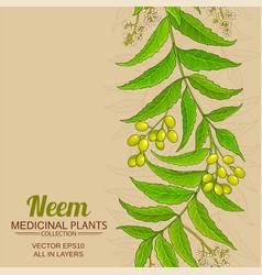 Neem background vector