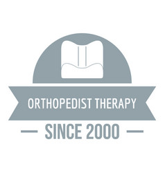 Orthopedic therapy logo simple gray style vector