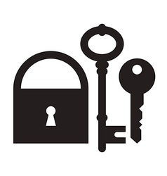 Padlock and keys vector image