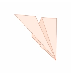 Paper plane icon cartoon style vector image
