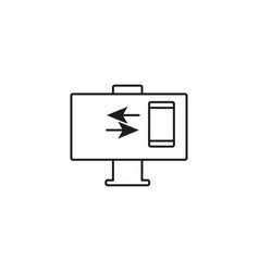 phone computer connection icon vector image