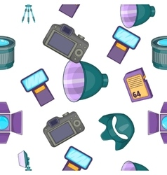 Photography pattern cartoon style vector