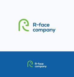 R face logo vector