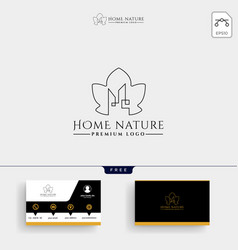 real estate leaf nature logo template and vector image