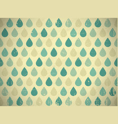retro raindrops vector image