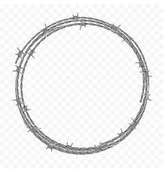 Ring made metal barbed wire vector