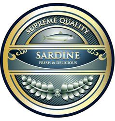 sardine gold icon vector image