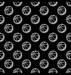 seamless black basketball background vector image