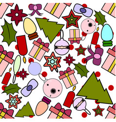 Seamless pattern for christmas and new year vector