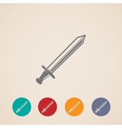 set of sword icons vector image