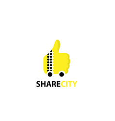 share city taxi logo vector image