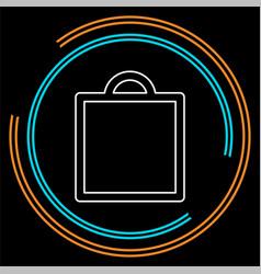 shopping icon fashion bag vector image