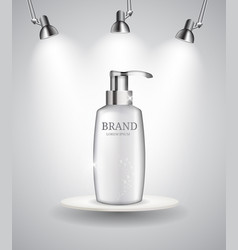 shower gel bottle template for ads or magazine vector image