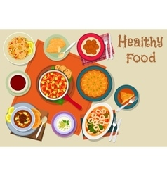 Spanish and jewish cuisine healthy food icon vector image