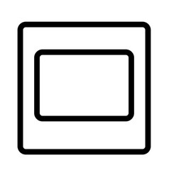 Square box template design isolated on white vector