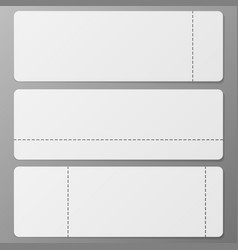 three tickets set vector image