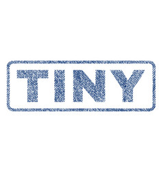 Tiny textile stamp vector