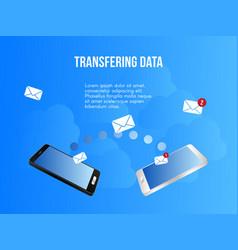 transferring data conceptual design template vector image