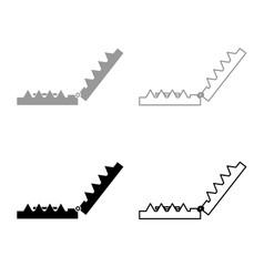 trap icon outline set grey black color vector image