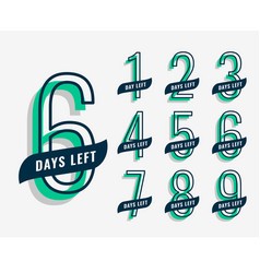 upcoming event marketing banner with number of vector image