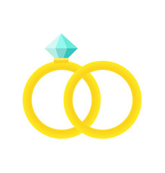 wedding rings icon cartoon of vector image