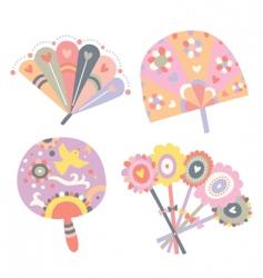 cute fans vector image vector image