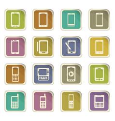 Phone icon set vector