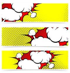 Retro comic style explosion collision flyer vector image vector image