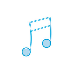 Silhouette musical note trhythm notation icon vector