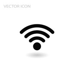 wi fi Network Symbol flat sign vector image