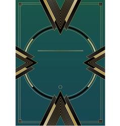 Arrows Art Deco Background vector image vector image