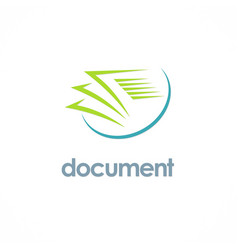 document paper office logo vector image