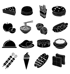 Fast foods icons set vector image