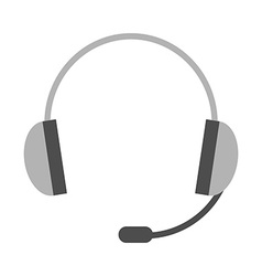 Headset headphones with microphone vector image vector image