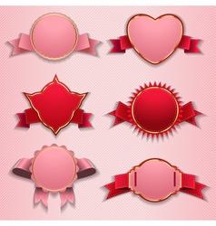 labels tags ribbons vector image