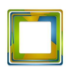 Abstract squares logo background vector image vector image