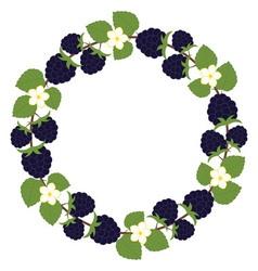 Blackberry Wreath vector image vector image