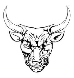 bull mascot character vector image