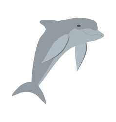 dolphin ocean fish friendly cute vector image vector image