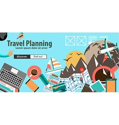 Flat Design Concept For Travel Organization and vector image